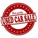 Försäljning för använd bil stock illustrationer