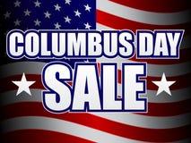 försäljning för columbus dag vektor illustrationer