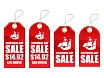 försäljning för columbus dag royaltyfri illustrationer