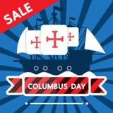 Försäljning för Columbus dag Arkivfoton