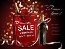Försäljning för dag för valentin` s vektor illustrationer