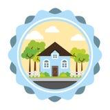 försäljning för hus för designgodsutgångspunkt verklig Royaltyfri Bild
