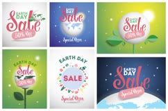 Försäljning för jorddag vektor illustrationer