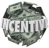 Försäljning för köp för uppmuntran för boll för incitamentordpengar mer vektor illustrationer