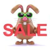 försäljning för kanin för påsk 3d Fotografering för Bildbyråer