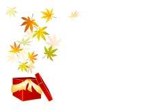 försäljning för leaf för gåva för höstaskfall Royaltyfri Illustrationer