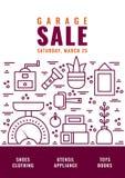 Försäljning hemifrånaffisch 5 Arkivbild
