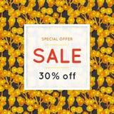 försäljning yellow för modell för hjärta för blommor för fjärilsdroppe blom- tecknad blommahand rabatt shopping Kommers Färgrik b vektor illustrationer