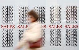 Försäljningar arkivfoton
