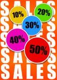 försäljningar royaltyfri illustrationer