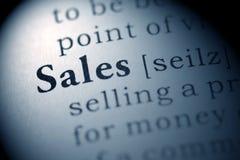 Försäljningar Arkivbilder