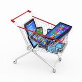 Försäljningar av ny teknikbegreppet Arkivbild