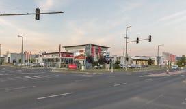 Försäljningar för tjänste- mitt och bili Keszthely, Ungern arkivfoton