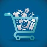 Försäljningar och detaljhandel royaltyfri illustrationer