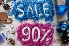 Försäljningar på ferier för jul och för nytt år Royaltyfri Foto