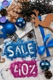 Försäljningar på ferier för jul och för nytt år Royaltyfria Bilder