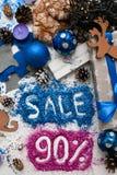 Försäljningar på ferier för jul och för nytt år Arkivfoton