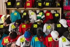 Försäljningar till den lokala marknaden Arkivbilder