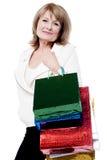 Försäljningen är på, shoppar snabbt! Fotografering för Bildbyråer