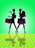 försäljningen shoppar tecknet Royaltyfria Foton