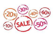 försäljningen stämplar vektorn Arkivfoton