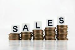 Försäljnings—affärsidé arkivfoto