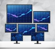Försäljnings- och köppilar Arkivfoton