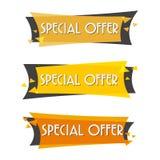 Försäljningsbaner för specialt erbjudande för din design Royaltyfria Bilder