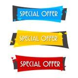 Försäljningsbaner för specialt erbjudande för din design, festival för rabattrensningshändelse Royaltyfria Bilder