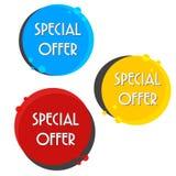 Försäljningsbaner för specialt erbjudande för din design, festival för rabattrensningshändelse Royaltyfri Foto