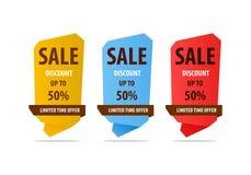 Försäljningsbaner för specialt erbjudande för din design, festival för rabattrensningshändelse Arkivfoton