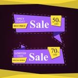 Försäljningsbaner för specialt erbjudande för din design, inskränkt tid, discou Arkivbild