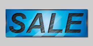 Försäljningsbaner i blåa skuggor royaltyfri illustrationer