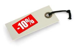 försäljningsetikett Arkivfoto