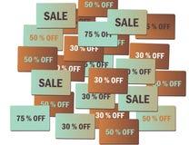försäljningsetiketter Arkivbilder