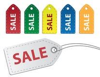 försäljningsetiketter Arkivbild