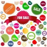 försäljningsetiketter Arkivfoton