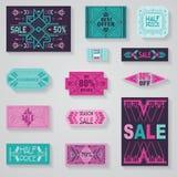 Försäljningsetiketter och etiketter Royaltyfri Foto