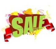 försäljningsfärgstänk royaltyfri illustrationer