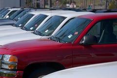försäljningslastbilar Fotografering för Bildbyråer