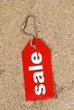 försäljningssommaretikett Royaltyfri Fotografi