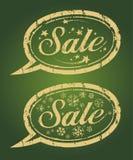 försäljningsstämpelvinter stock illustrationer