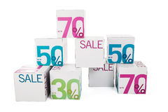 försäljningssymbol Arkivfoton