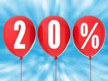 20% försäljningstecken Royaltyfri Bild