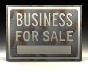 försäljningstecken för affär info Royaltyfri Foto