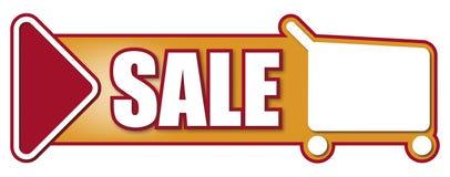 Försäljningstecken för att shoppa Royaltyfria Bilder