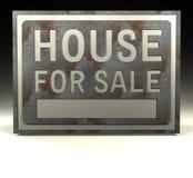 försäljningstecken för hus info Royaltyfri Foto