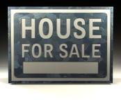 försäljningstecken för hus info Royaltyfri Fotografi
