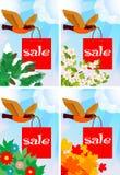 försäljningstema royaltyfri illustrationer