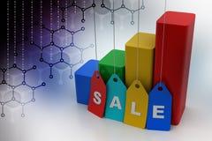 Försäljningstillväxtbegrepp royaltyfria foton